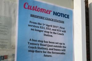 U-TURN: First Dorset announced it was leaving Bridport Bus Station, before changing its mind