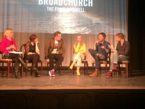 Bridport and Lyme Regis News: The stars, writer and executives behind Broadchurch say Goodbye in a very Bridport evening