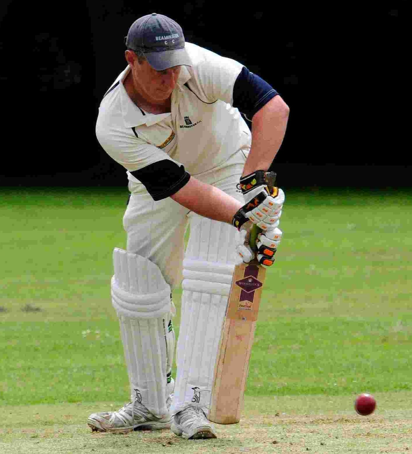 HALF CENTURY: Ross Baker was unbeaten on 55 when the rain thwarted Beaminster
