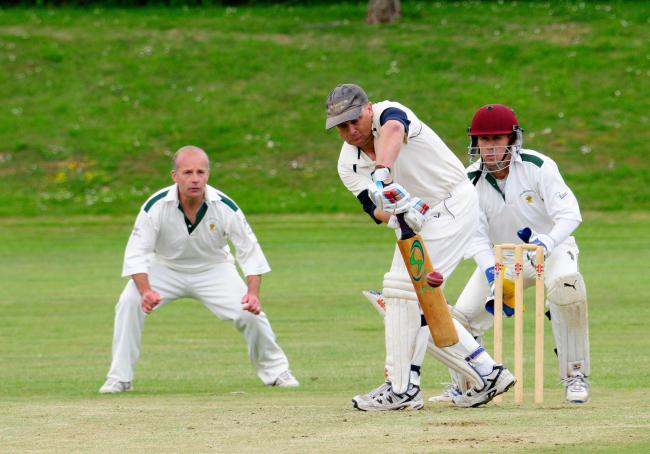 LATE SURGE: Hugh Rathbone hit 15 for Beaminster in their total of 243         Picture GRAHAM HUNT/HG12141