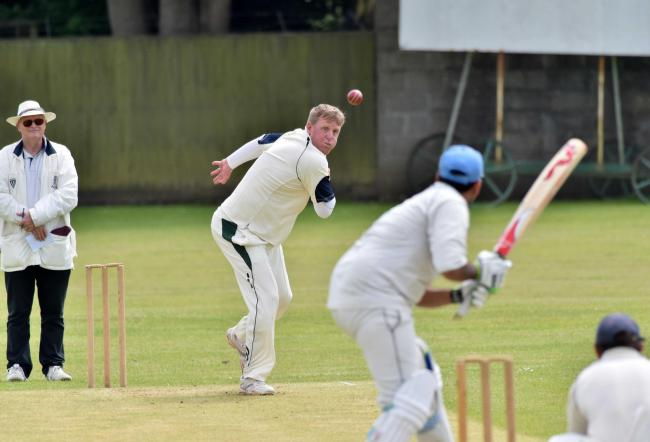 SUBLIME SPELL: Beaminster bowler Francis Medley was in impressive form