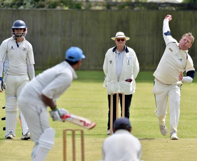 FOUR WICKETS: Beaminster's medium pace bowler Francis Medley took 4-12        Picture: GRAHAM HUNT/HG13248