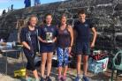 OAR-SOME: Lyme under-14s with cox Diana Dixon