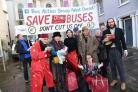 CAMPAIGNERS: There have been a number of protests about bus cuts dating back to 2013