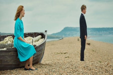 A promotional image from the film On Chesil Beach