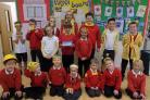 Burton Bradstock school wore yellow for World Mental Health Day  Picture by Sir John Colfox School