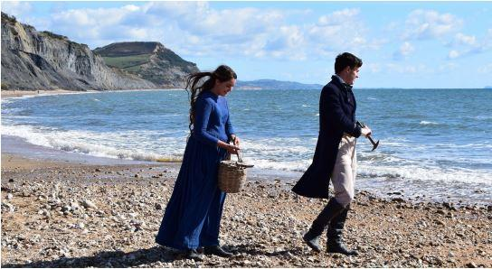 SCENE: Mary Anning ( Katy Hamilton) fossiling with Henry de la Beche played by Tom Machell