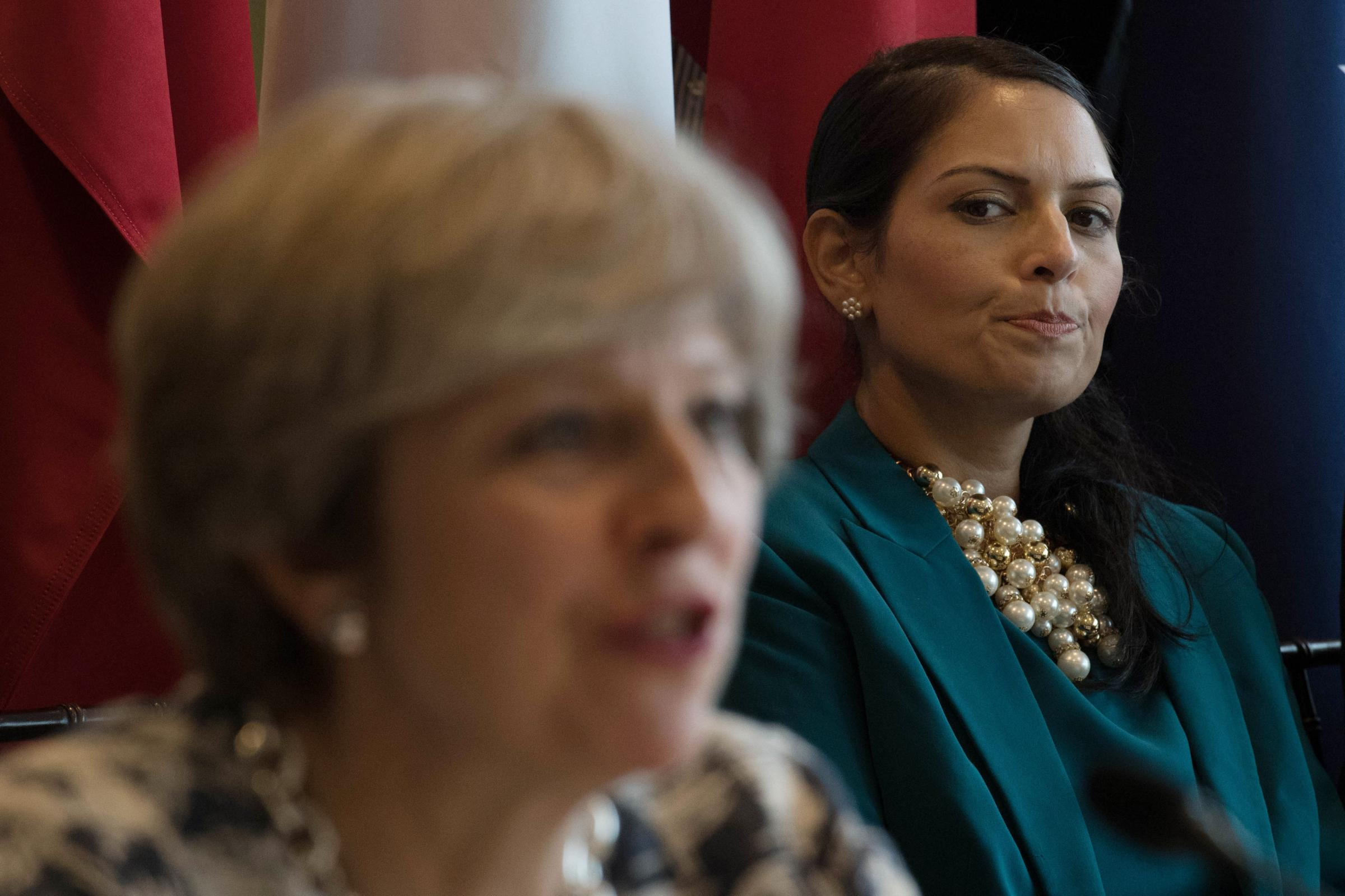 DISCUSSION: Priti Patel and Prime Minister Theresa May at a meeting in September  Picture: PA