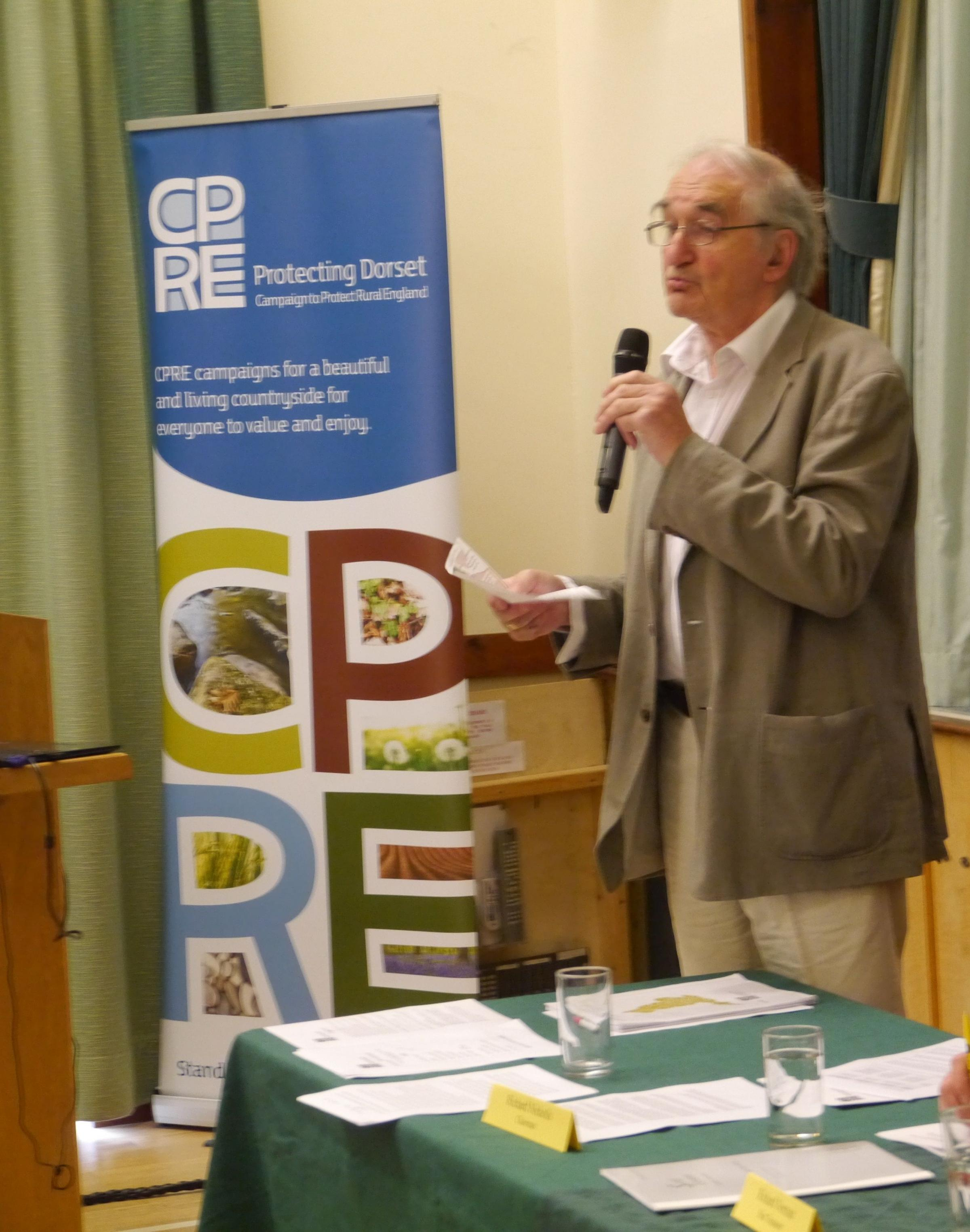 CELEBRATION: Richard Nicholls, chairman of trustees at Dorset CPRE, at the 80th anniversary meeting