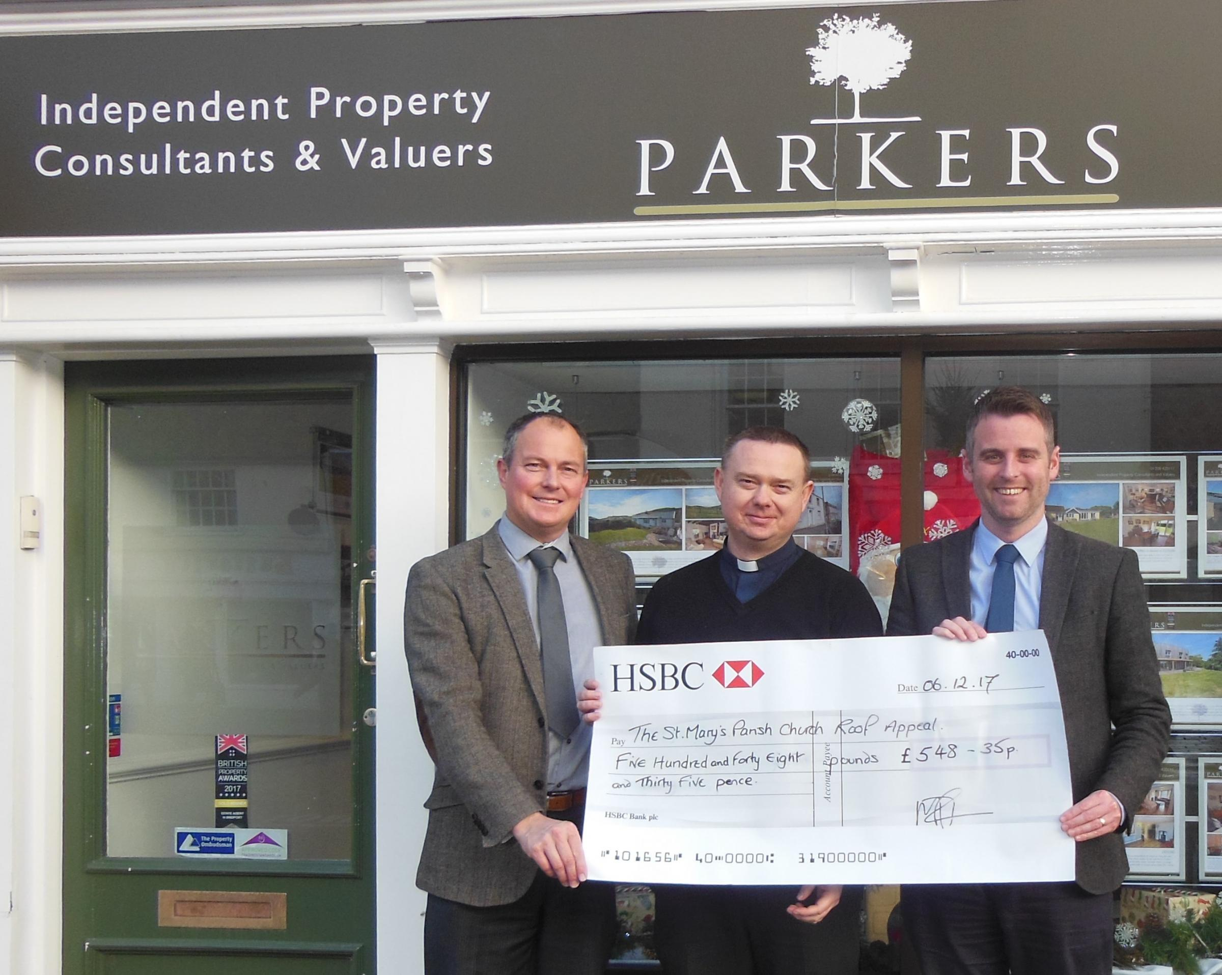 The donation from Parkers