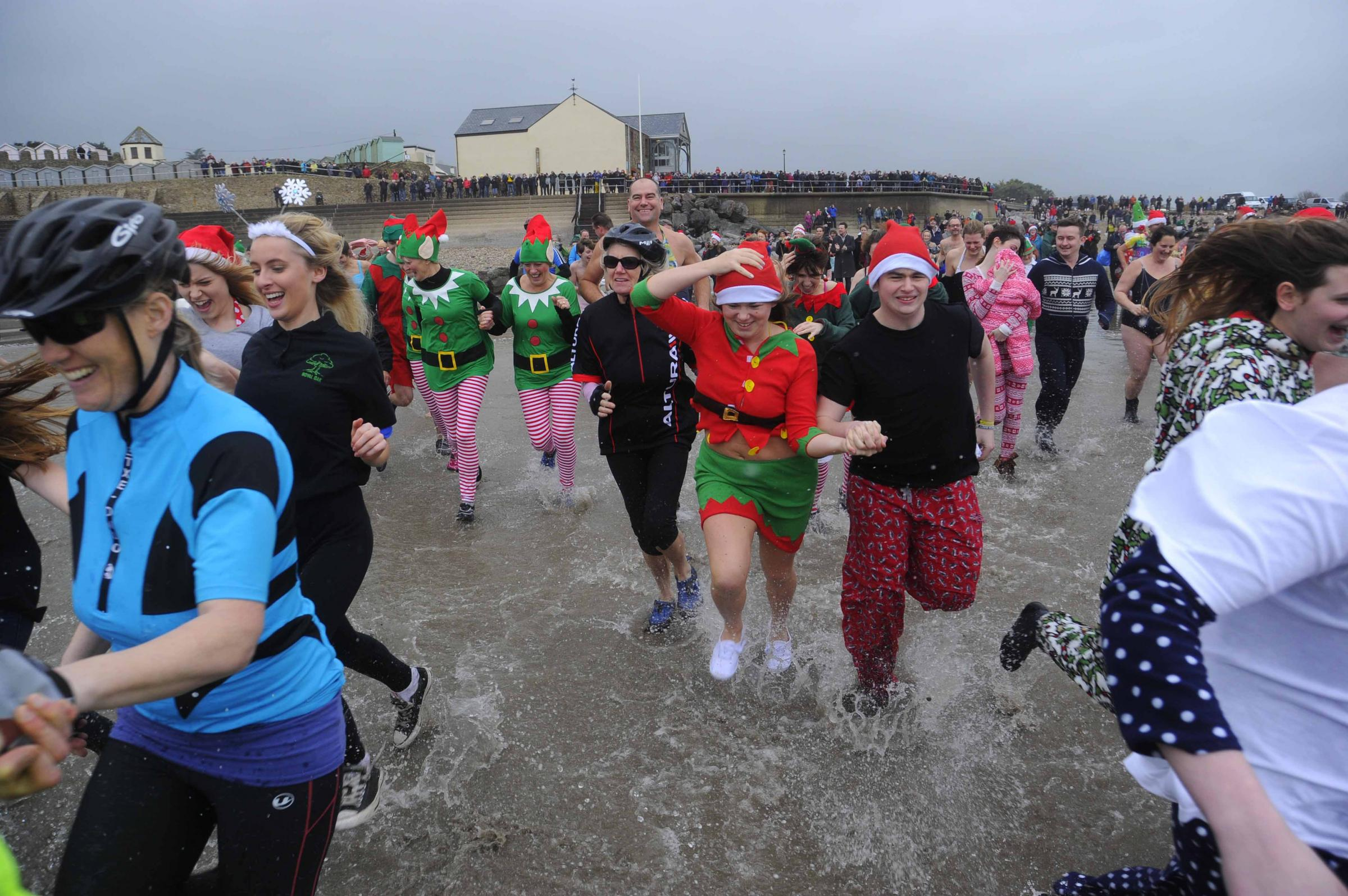 FANCY A DIP? Charmouth Christmas Day Swim