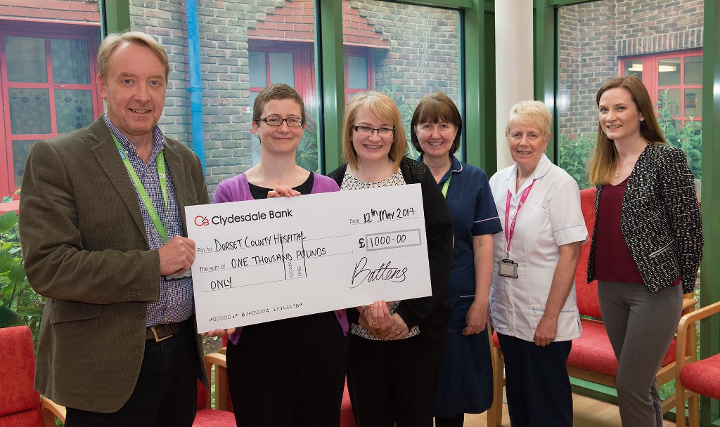 Battens Solictors Charitable Trust donation to Dorset County Hospital Charity