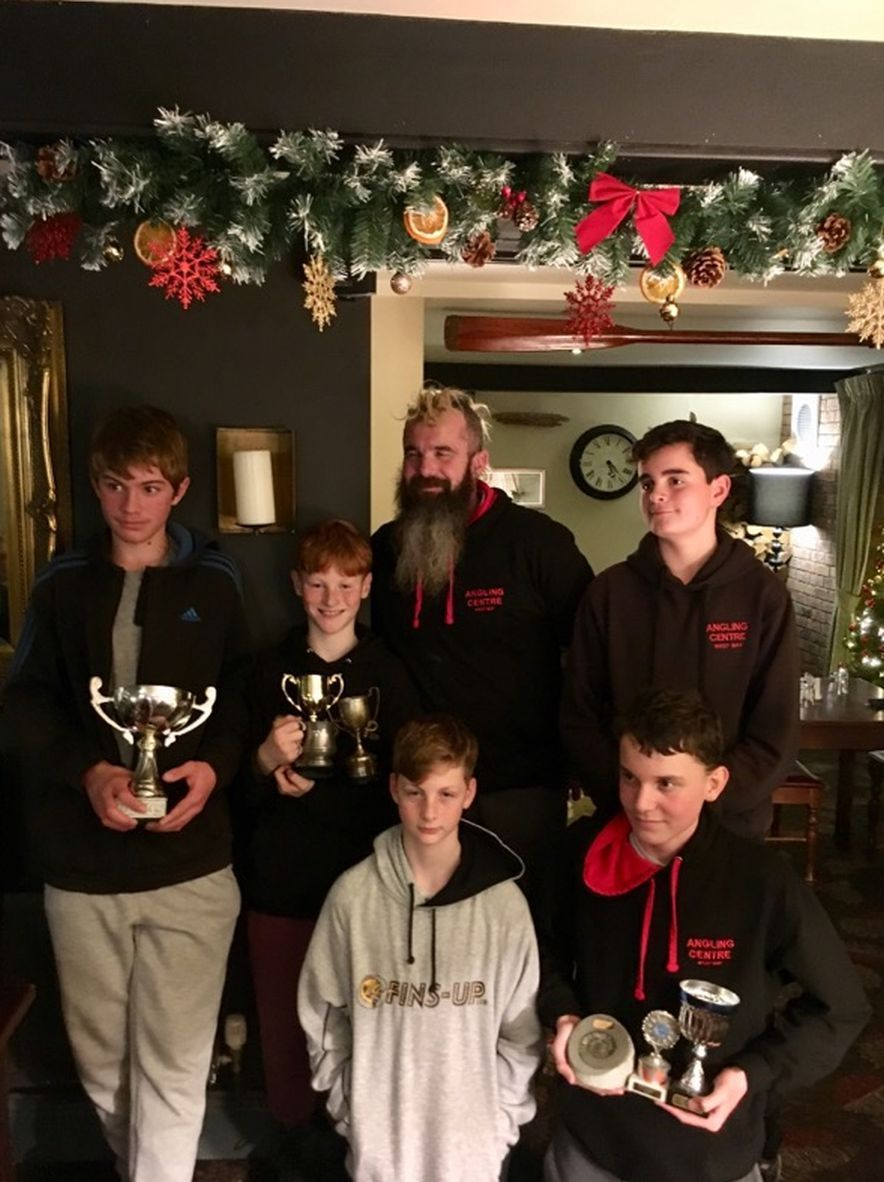 AWARDS: West Bay Angling Club's end-of- year juniors'  presentation