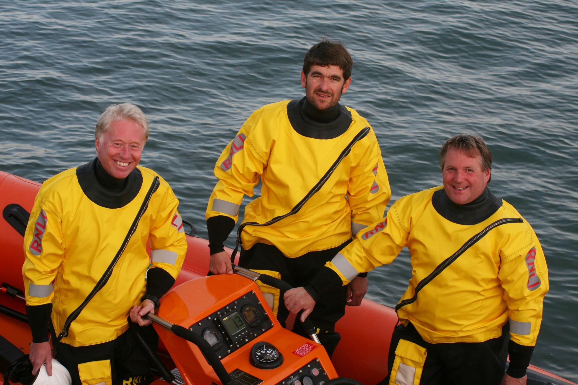 RESCUERS: Tim Edwards, John Cable, Mark Colley. Picture: Richard Horobin