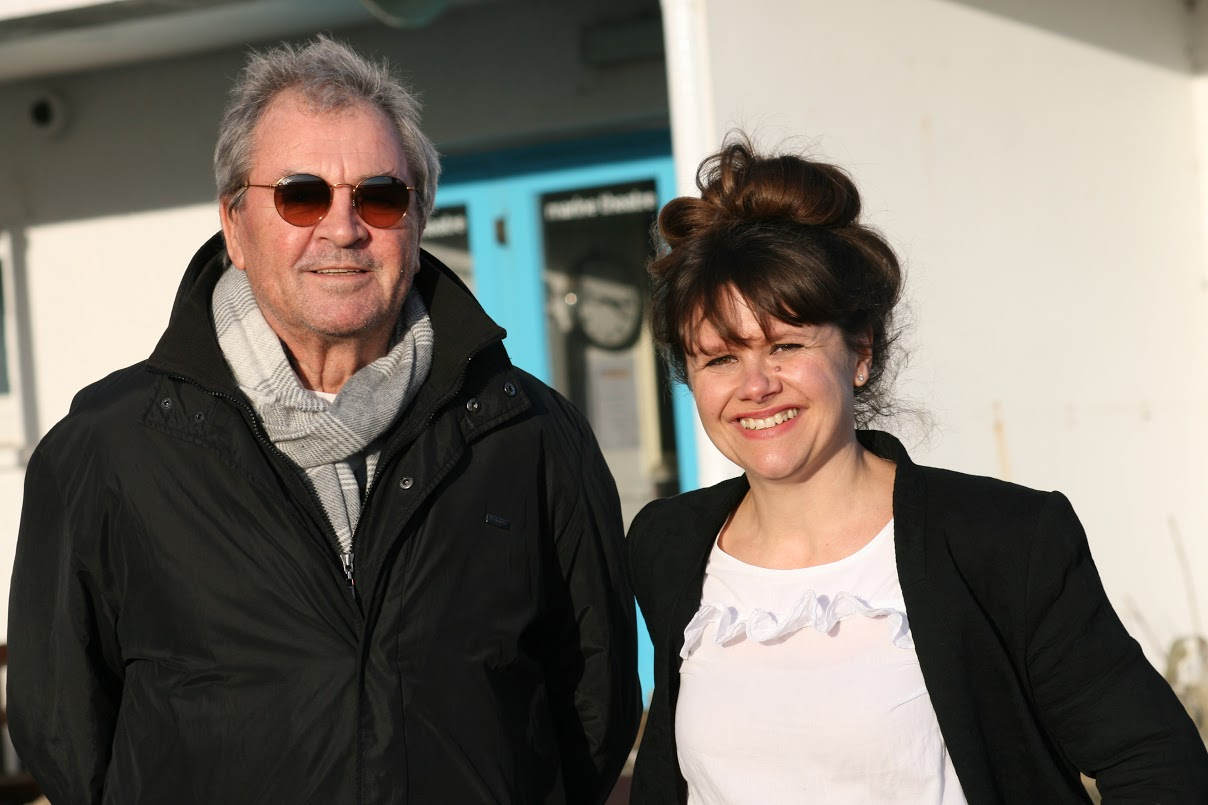 Ian Gillan with theatre director Gabby Rabbitts. Picture: John Puckey