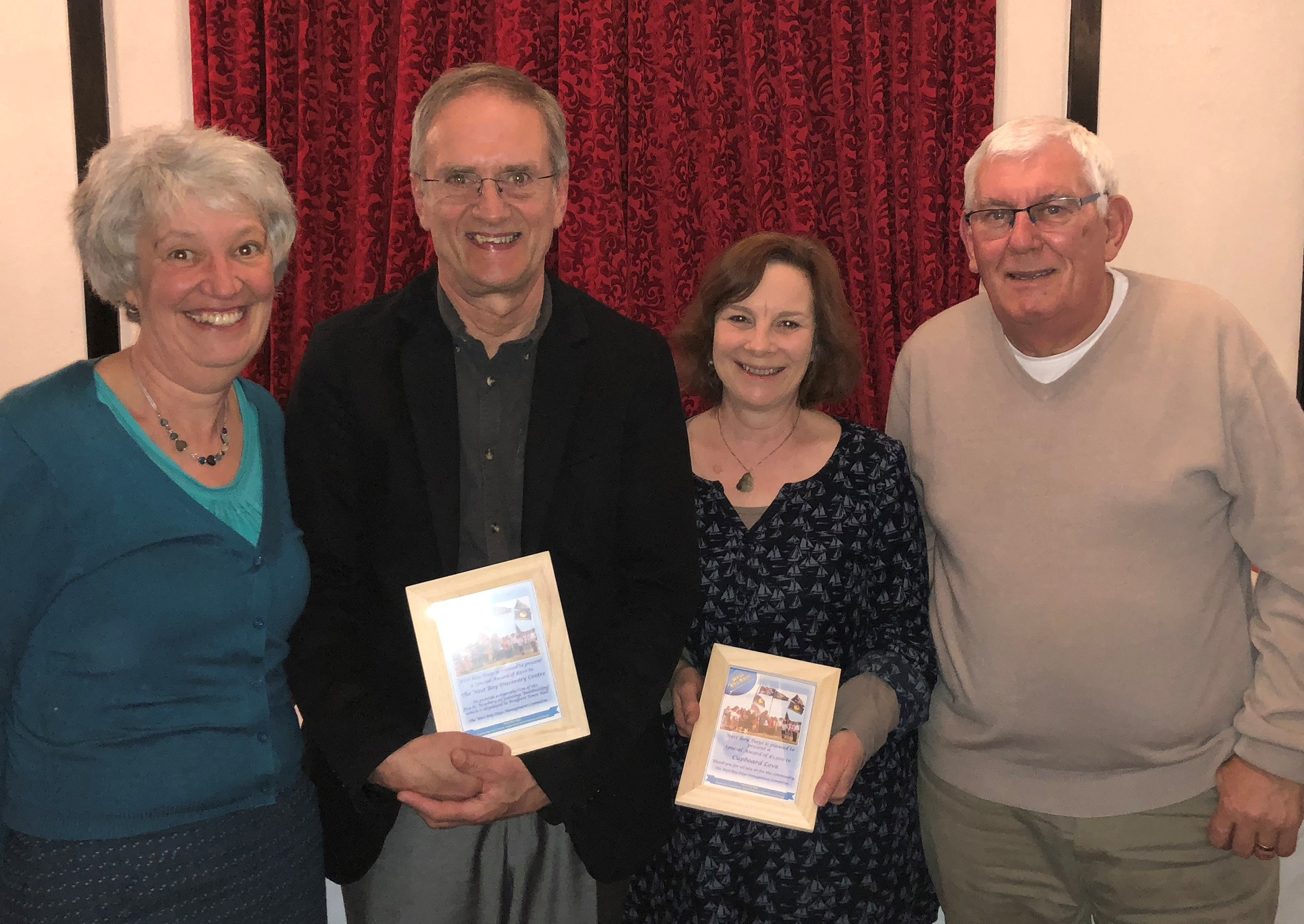 Sarah and John West from West Bay Discovery Centre and Steve Bartlett and Carrie Gamble from Cupboard Love. Picture: Neil Barnes