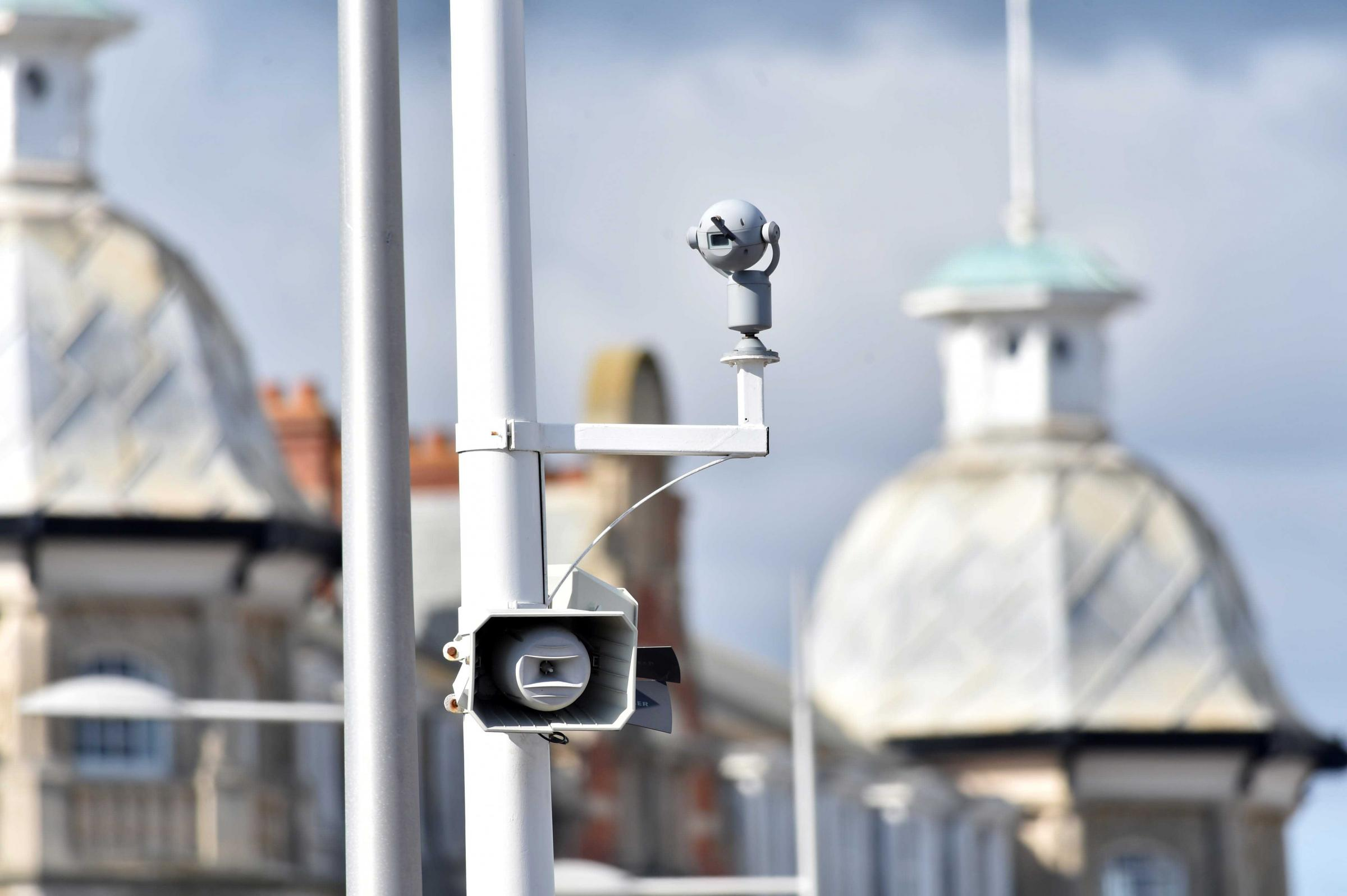 CCTV cameras in Weymouth - Camera on the Esplanade - 020915, Picture GRAHAM HUNT HG13437.