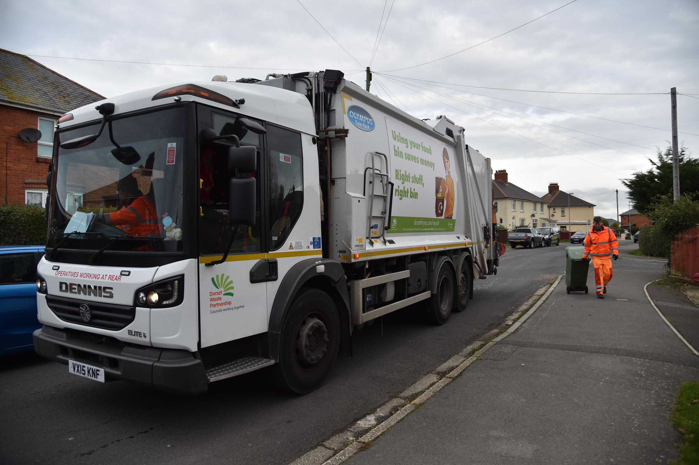 Dorset Waste Partnership lorry collection in Weymouth, Picture: JOHN GURD JG18045