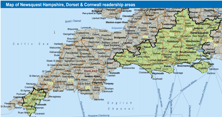 Bridport and Lyme Regis News: Dorset Echo readership area