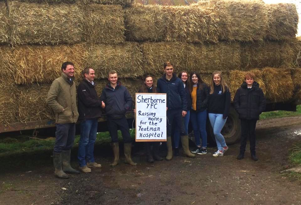 LAST STRAW: Sherborne Young Farmers auctioned off bales to raise money for The Yeatman Hospital