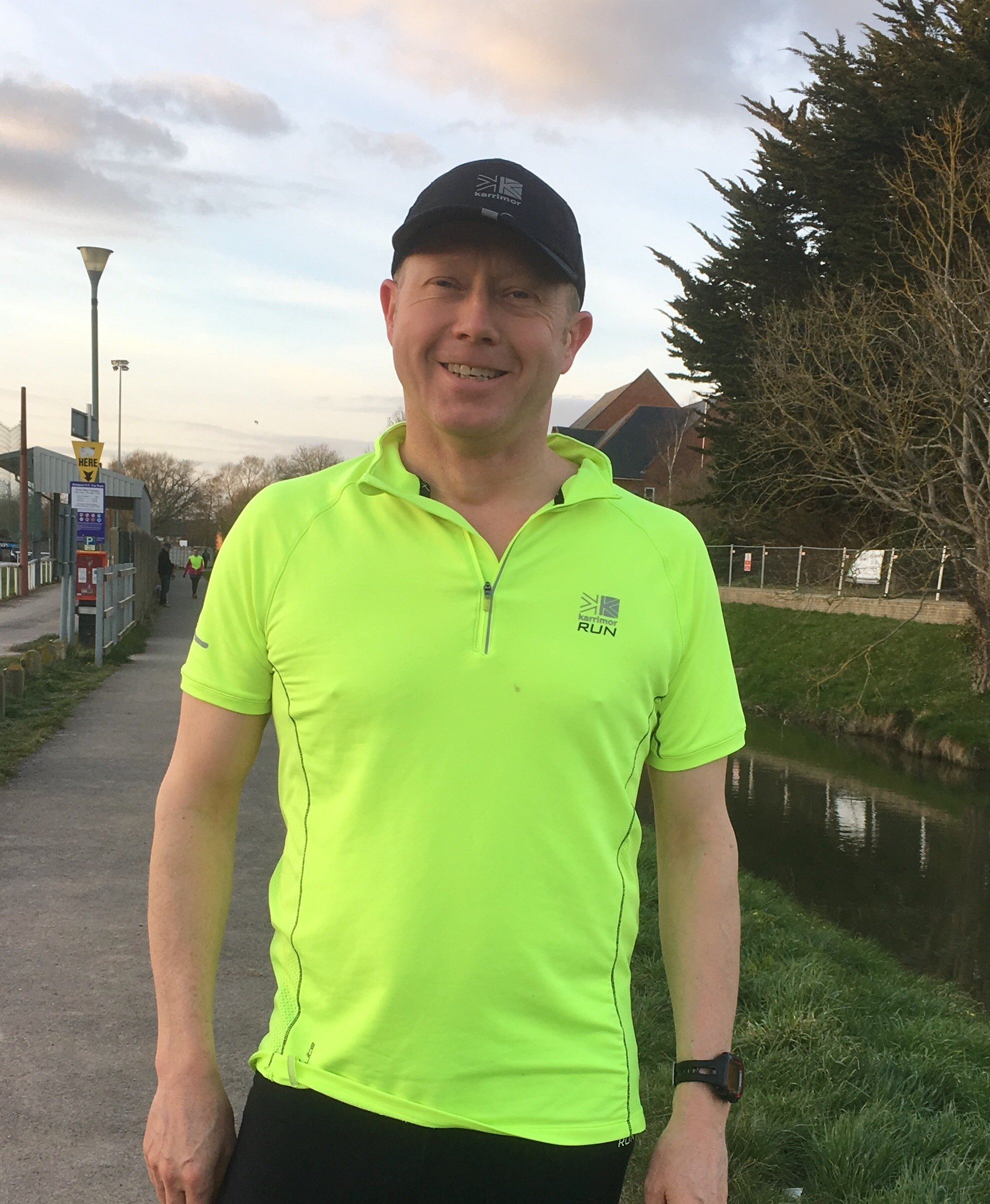 MARATHON MAN: Sam Rose out on a run to prepare for the marathon