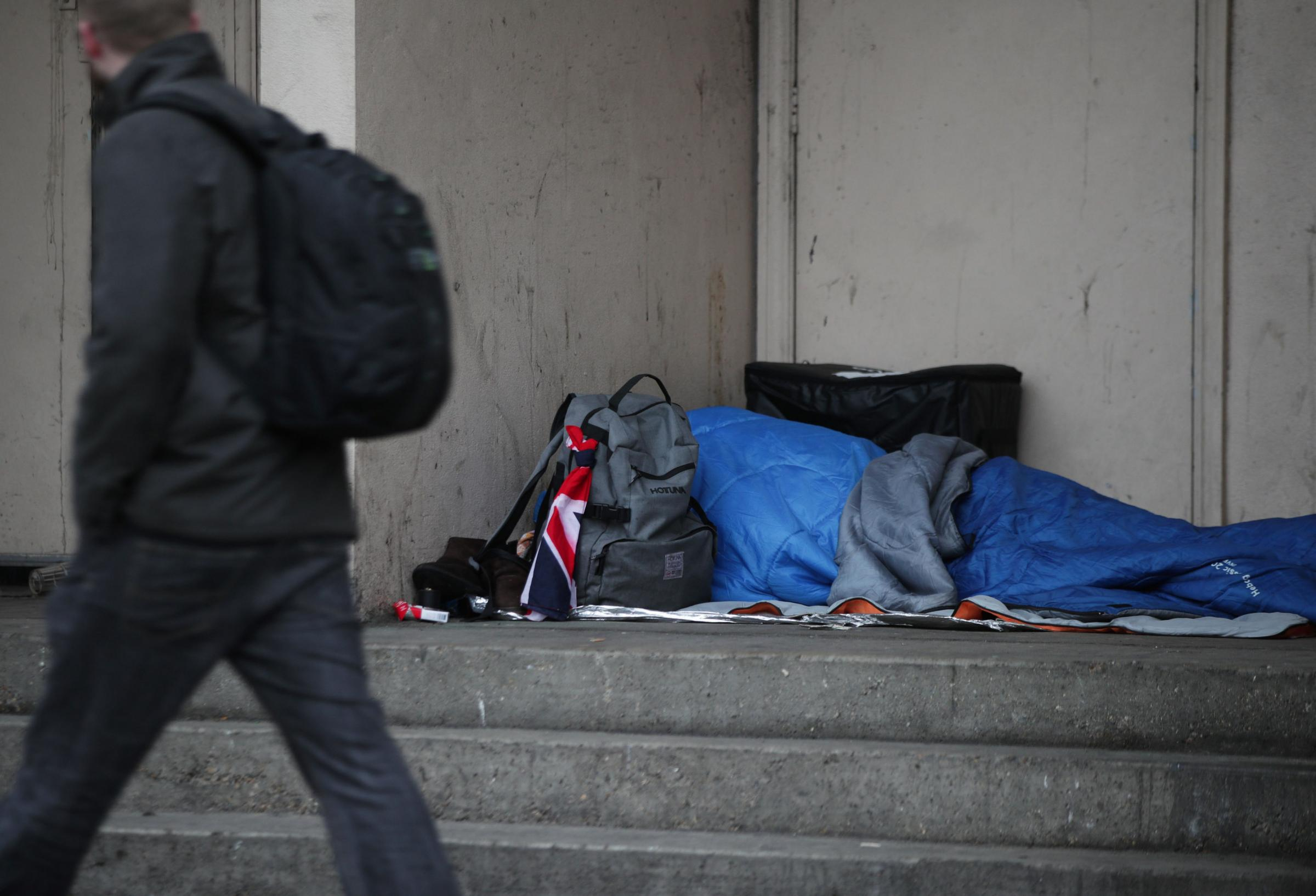 Help tackle homelessness rather than looking on the bright side Picture: Yui Mok/PA Wire
