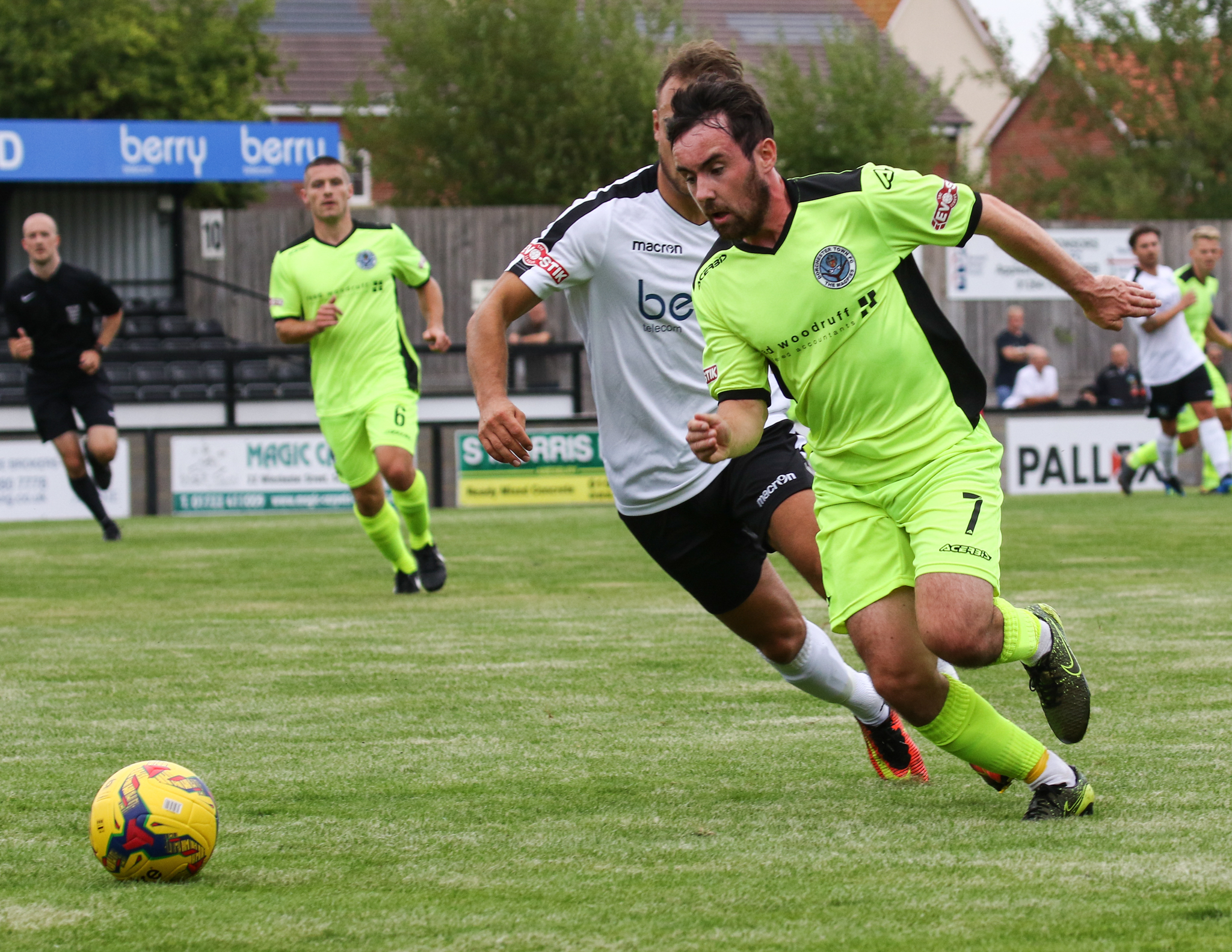 SALISBURY LOSS: Dorchester were defeated 3-0 at Salisbury                    Picture: PHIL STANDFIELD