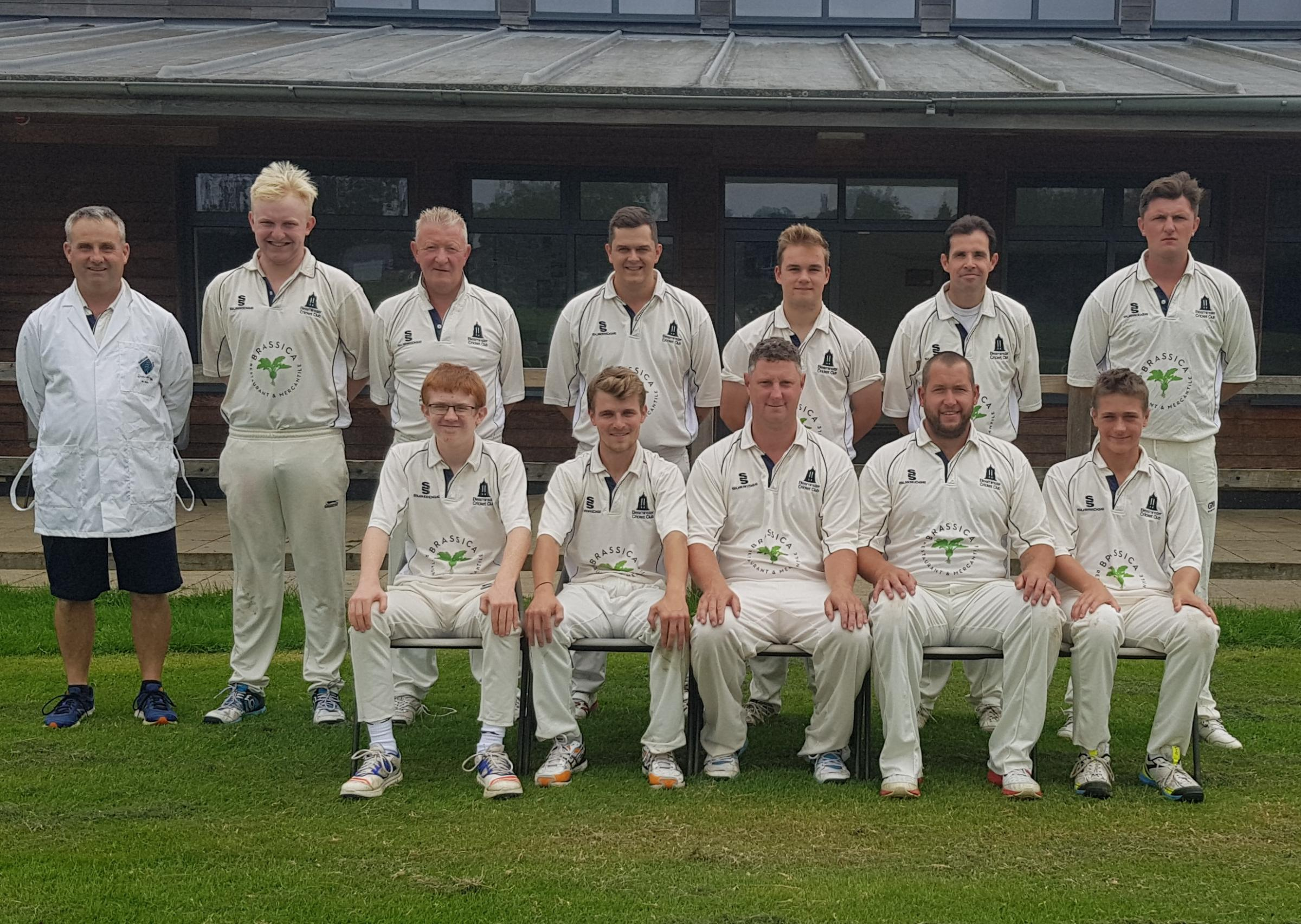 VICTORIOUS: Beaminster before their 10-wicket win over Stalbridge Seconds
