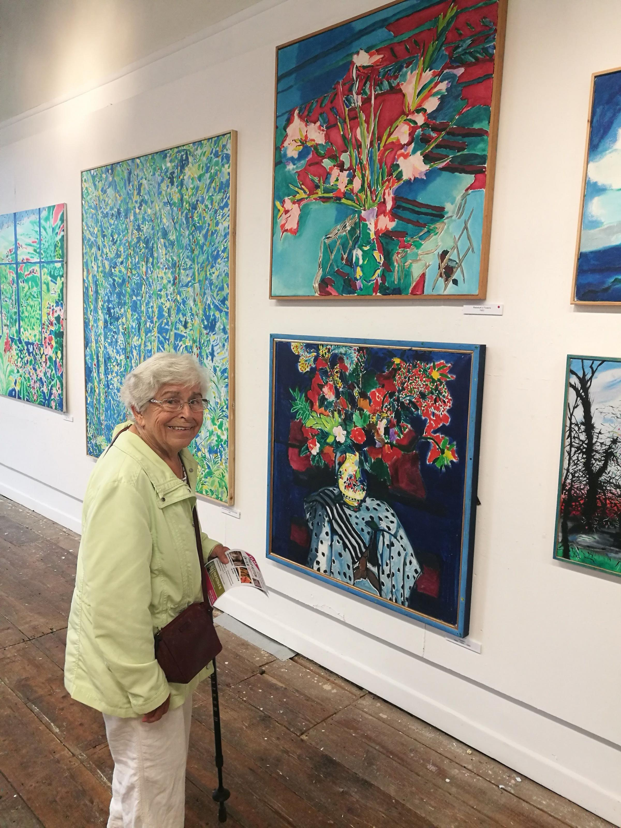 INSPIRED: Harbour House residents visited the Philip Sutton at 90 exhibition