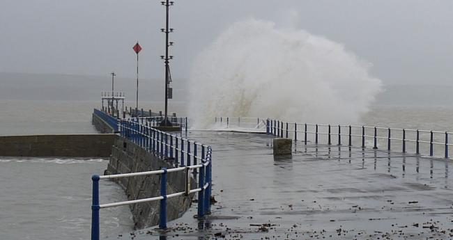 Stormy Weymouth Harbour. Credit: Sue Hogben