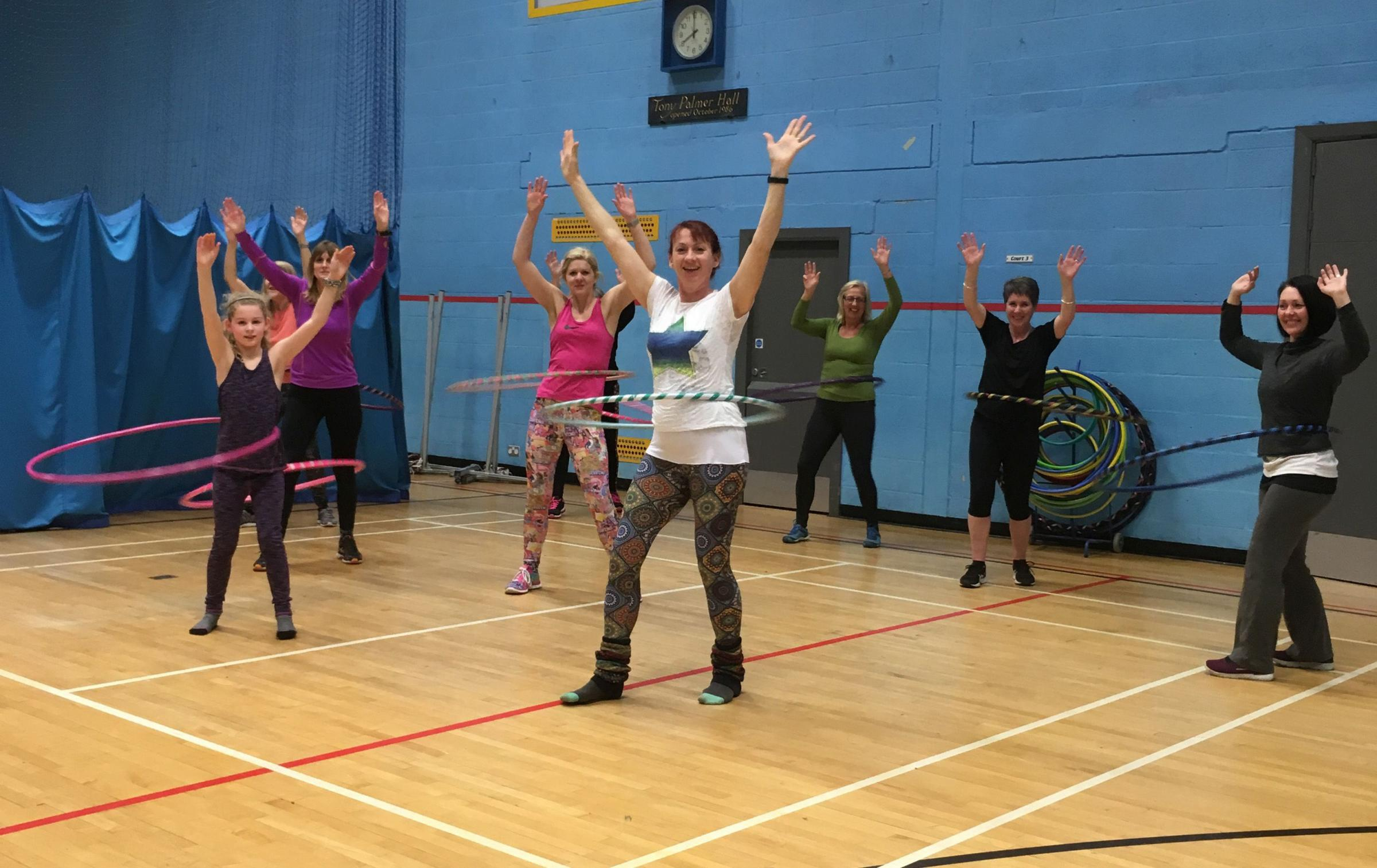 SUCCESSFUL: Debbie's first hula hoopathon in aid of The Living Tree