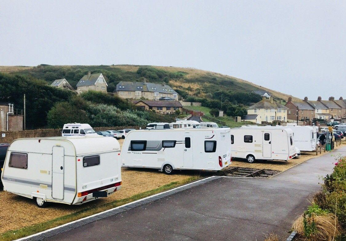 PROBLEMS: Campervans at the Station Yard car park this summer