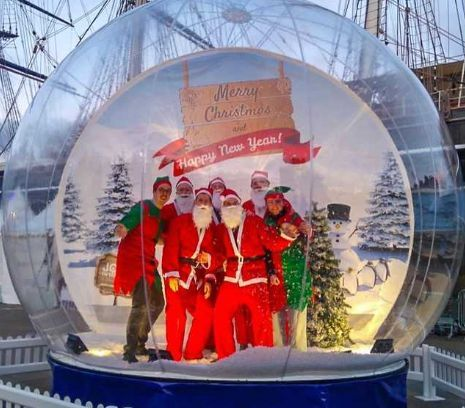 There will be a snow globe in Weymouth on Saturday
