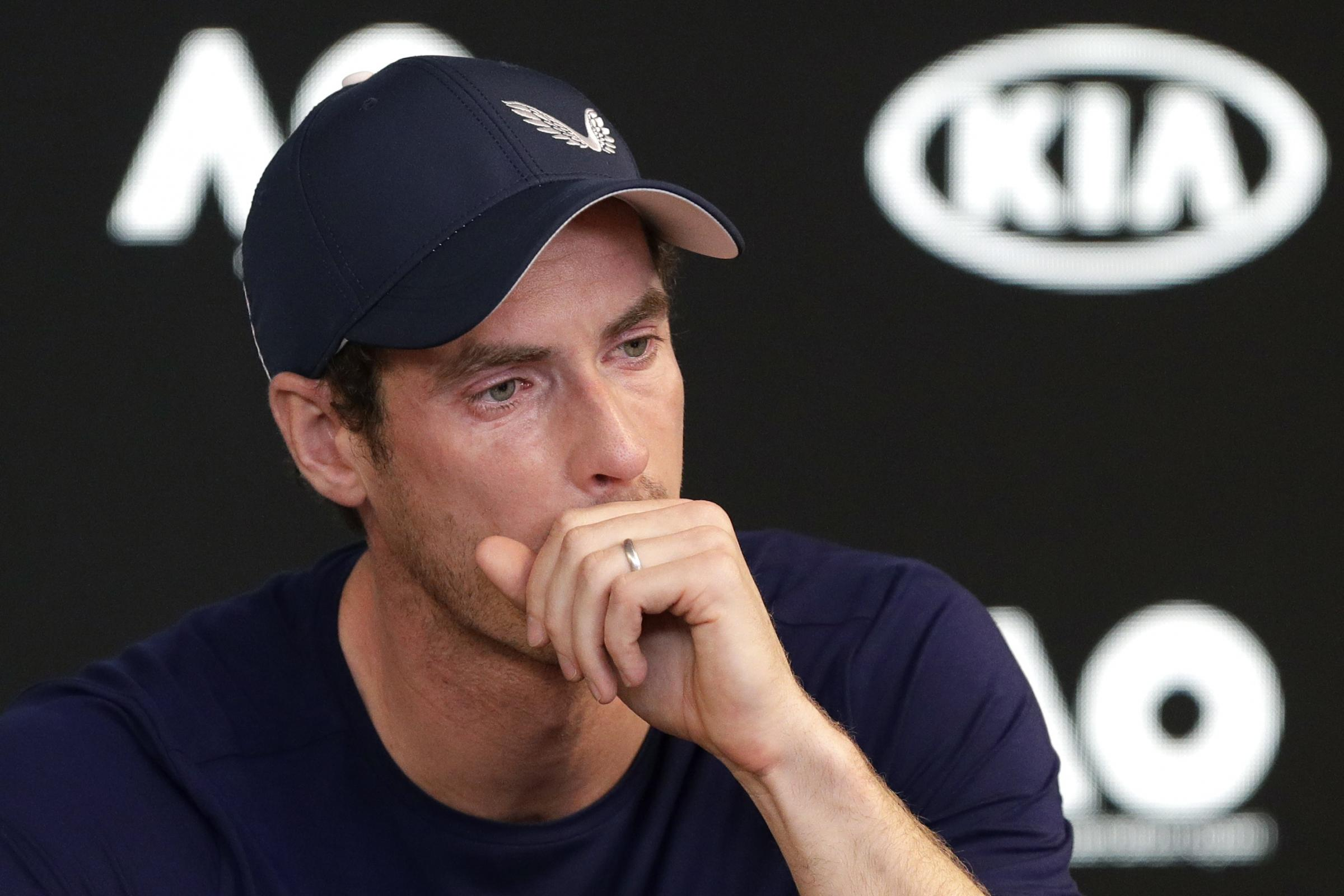 A tearful Andy Murray announced before the Australian Open that he was planning to retire because of hip pain