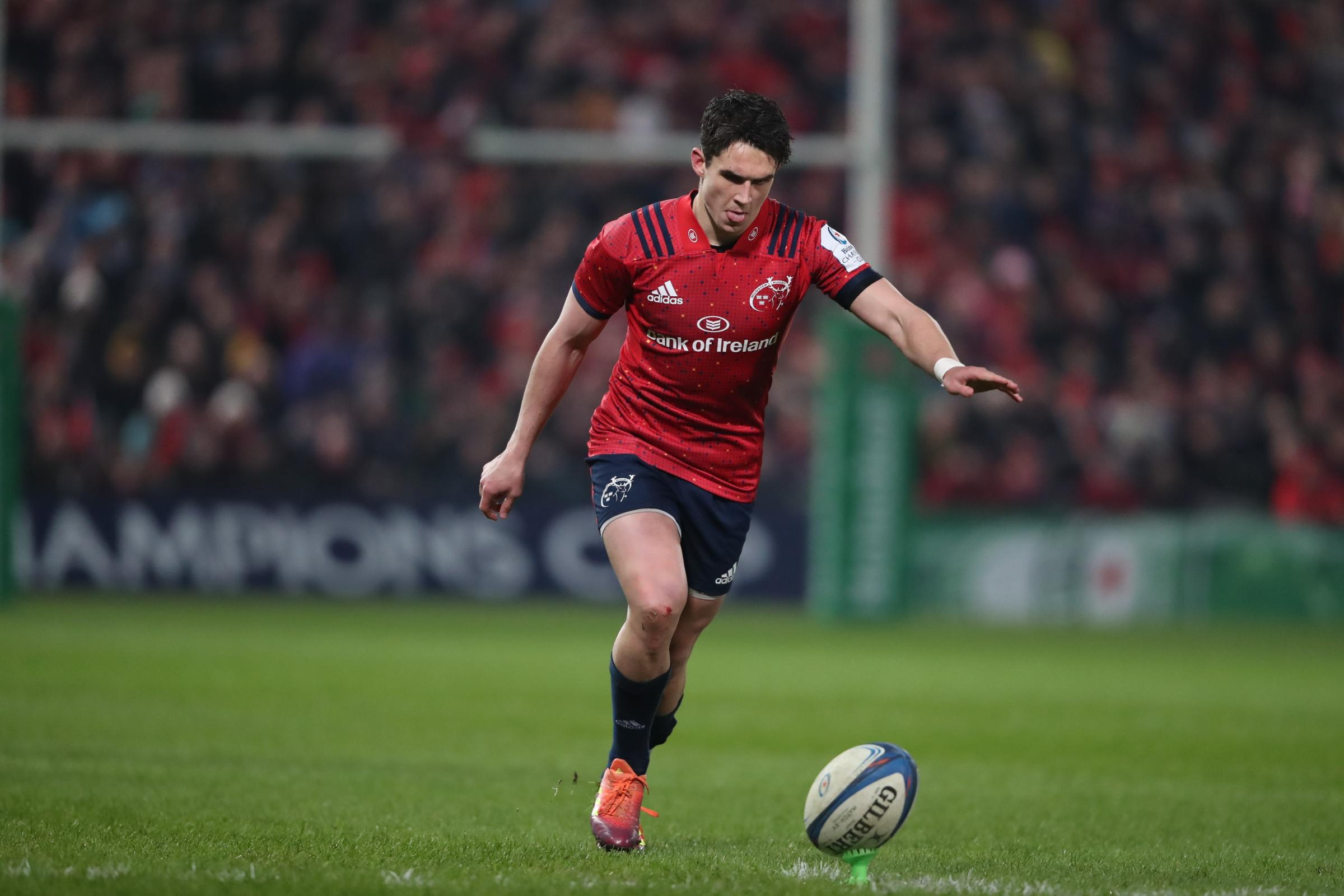 Joey Carbery kicked three penalties as Munster edged out Exeter (Niall Carson/PA).