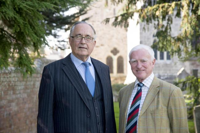 John Stokoe CB CBE, right, takes over as chairman of DHCT from Simon Pomeroy