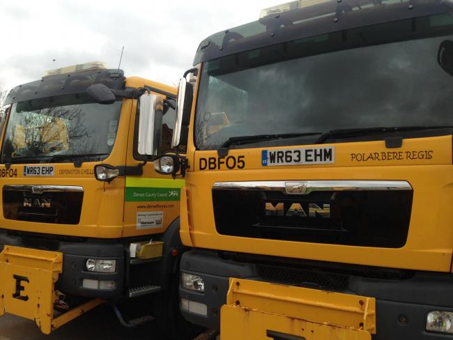 Dorset gritters are on standby to salt the roads as temperatures drop