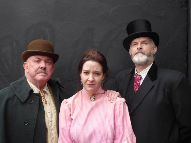 Cast of Gaslight, from left to right:  Chris Durham, Tracey Nicholls and Richard Neal