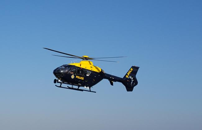 The police service helicopter was involved in the search   Picture: NPAS Bournemouth