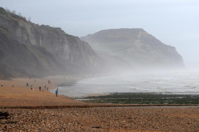 The man was injured at Charmouth beach    Picture: John Gurd.