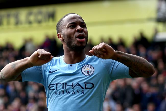 Raheem Sterling scored twice against Crystal Palace