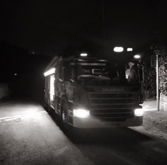 Fire engine at Symondsbury  Picture: Bridport Fire Station