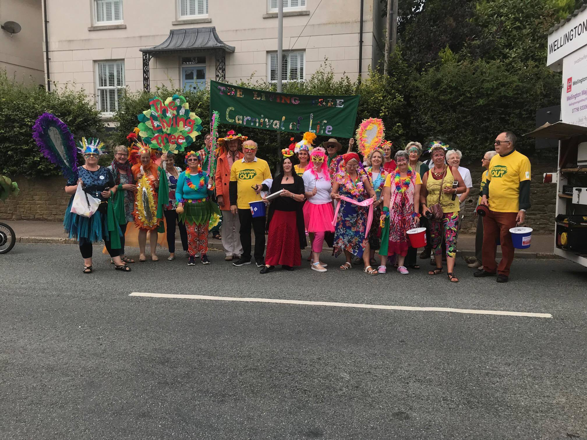 n The Living Tree cancer support group, pictured here at Bridport Carnival, was one of the groups to benefit from the fund
