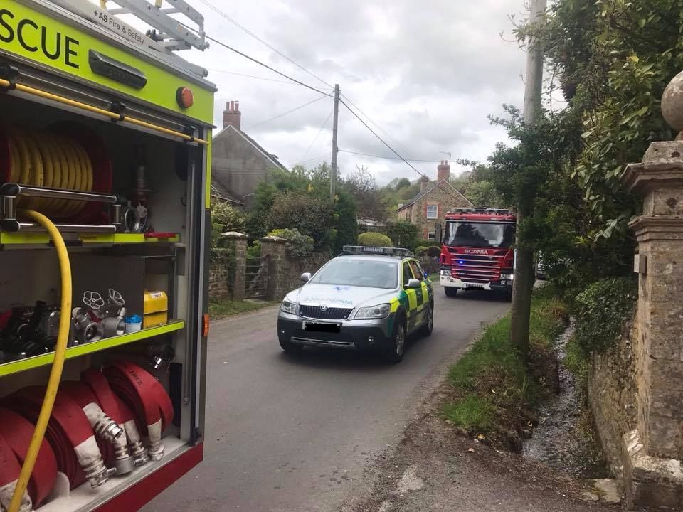 Fire at house in Litton Cheney  Picture: Bridport Fire Station