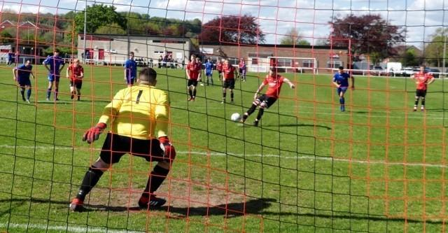 FANTASTIC FOUR: Josh Hunter scored four goals, including his third from the penalty spot									    Picture: STEPHEN BARRETT