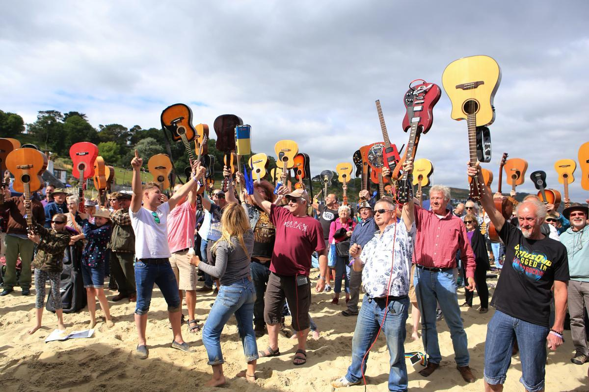 Guitars on the Beach will be going green this year to help the fight against climate change; picture is from last year's event in Lyme Regis
