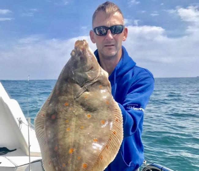 HUGE HAUL: Malvin Chambers caught a 1kg plaice