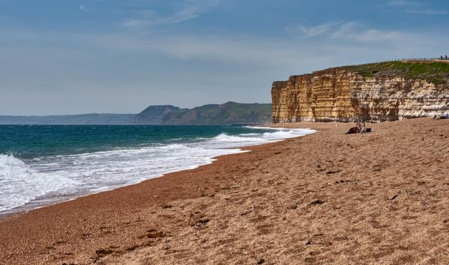Hive Beach at Burton Bradstock, pictured by Mike Watson