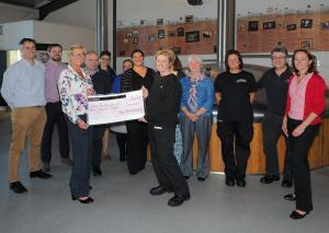 Hall & Woodhouse cheque presentation to the Dorset and Somerset Air Ambulance