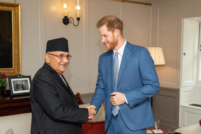 Harry meets the Prime Minister of Nepal